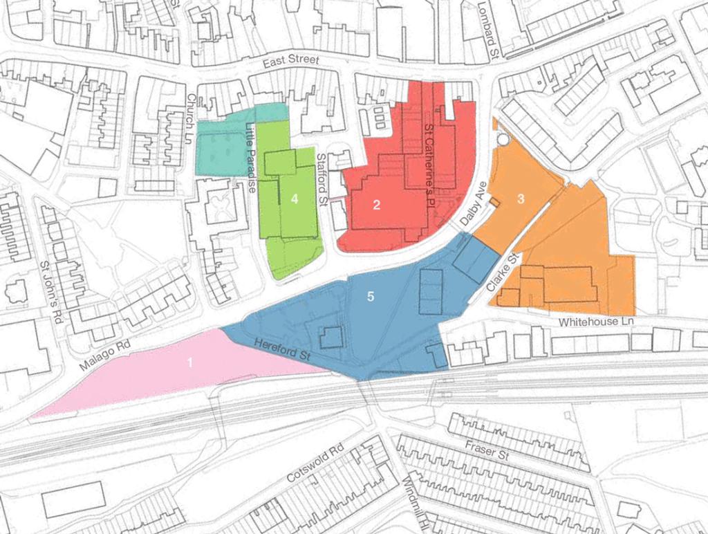 Plan of the Bedminster Green development area
