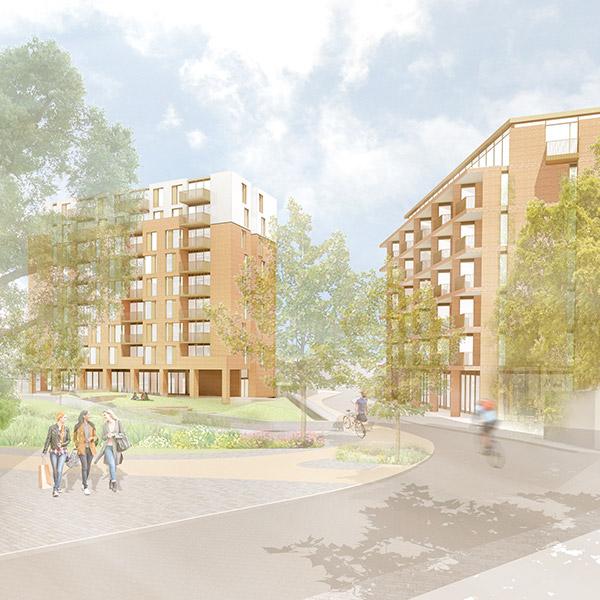 Bedminster Green proposal sketch of buildings
