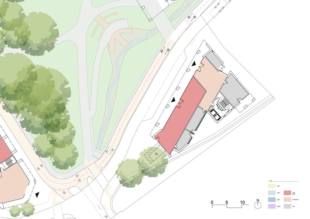 Building three ground floorplan
