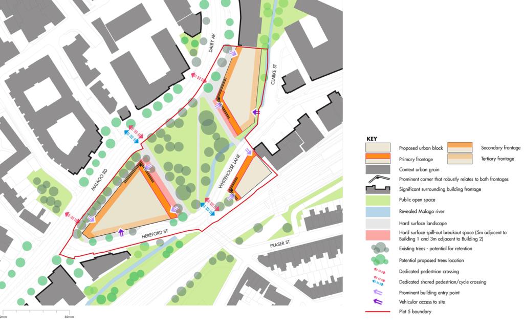 Urban design parameter plan