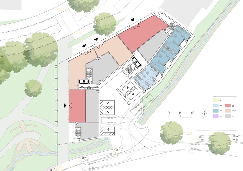 Building two ground floorplan