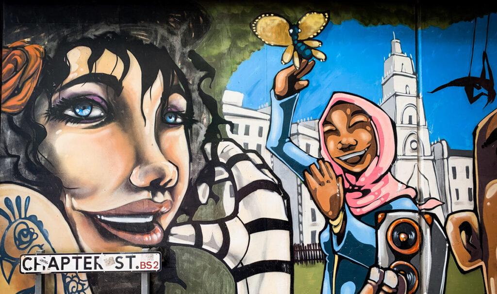 Mural by Silent Hobo - Chapter Street Bristol